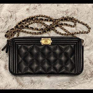 Chanel clutch on chain / wallet on chain / woc